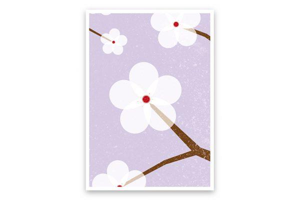 misuki postkarte kirschbluete