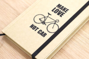 notizbuch make love not car