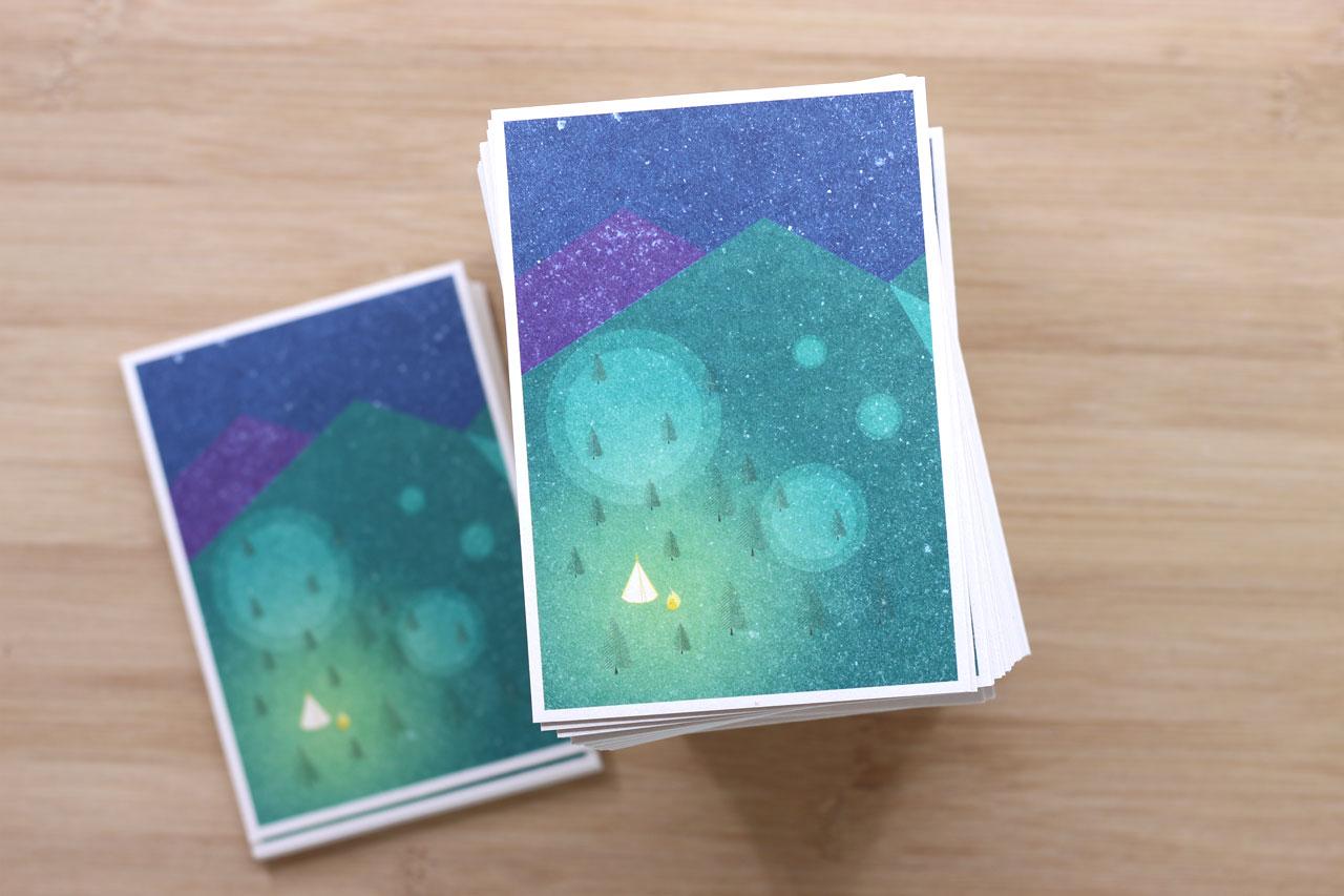 """misuki Postkarte """"Campfire"""""""