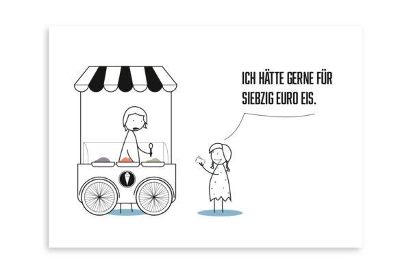 Für 70 Euro Eis